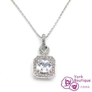 【約克精品】皇家貴婦施華洛元素晶鑽包銠金項鍊(SGS認證)