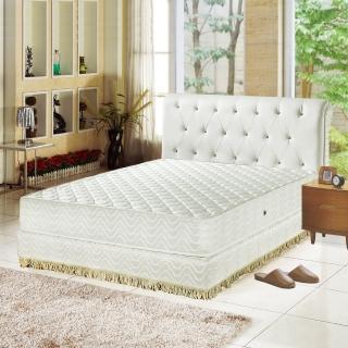 【睡芝寶-飯店用-透氣3M防潑水-護邊強化獨立筒床墊-雙人】