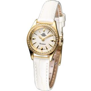 【Rosemont】茶香玫瑰系列 III 復古時尚錶(RS022-01WH米白色皮)