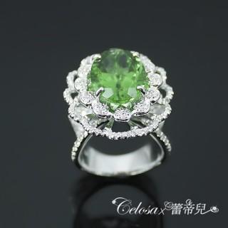 【蕾帝兒名品】寵愛花樣綠曜戒指