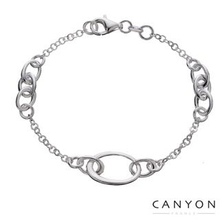【CANYON】簡單卻能襯托您的知性品味的手鍊(橢圓圈細緻銀手鍊)