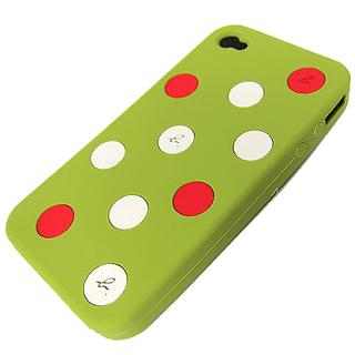 【agnes b.】點點矽膠IPhone套(綠)