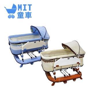 【MIT台灣童車】恩典搖床(藍 / 咖)