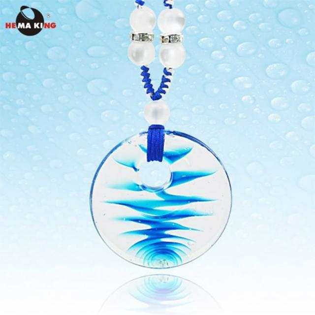 【HEMA KING】波光瀲灩藍色琉璃墜項鍊