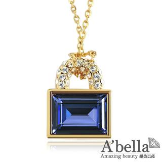 【A'bella浪漫晶飾】鎖愛-墨藍水晶項鍊