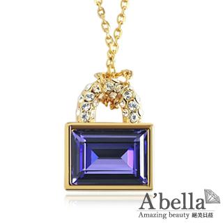 【A'bella浪漫晶飾】鎖愛-高貴紫水晶項鍊