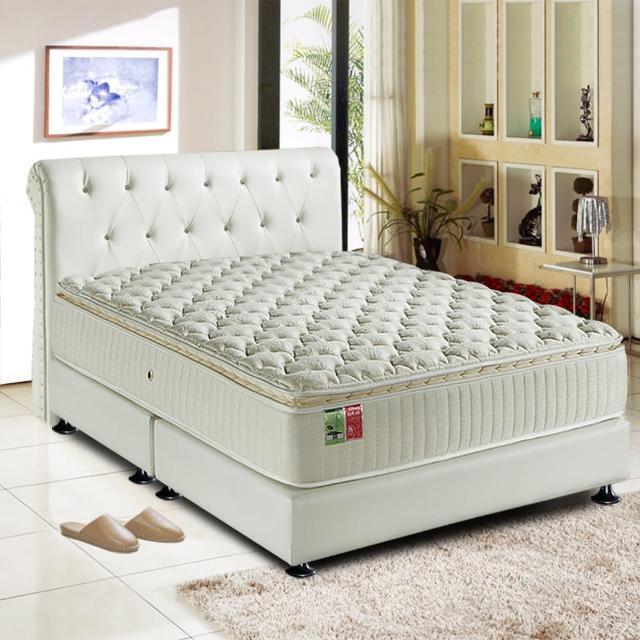 【睡芝寶 正三線乳膠 五星級飯店用 麵包型 蜂巢獨立筒床墊-厚26cm-雙人加大6尺】