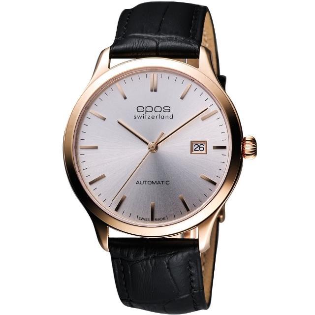 【epos】原創系列超薄自動機械腕錶(3420.152.24.18.15FB)