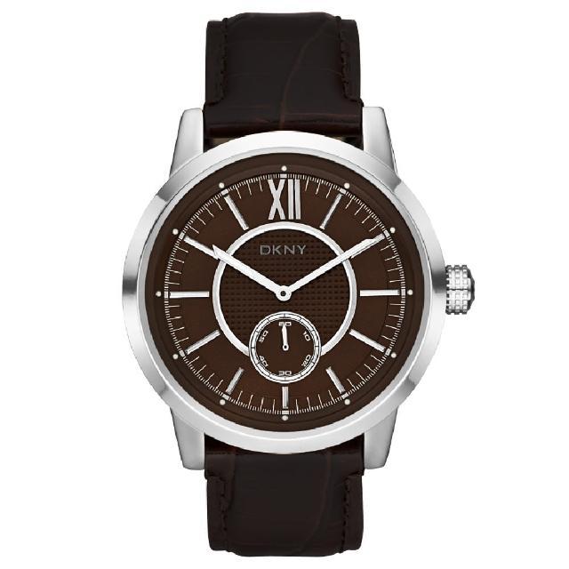 【DKNY】摩登紐約時尚都會腕錶(咖啡 NY1521)
