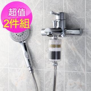 【生活采家】家庭型交叉導水淋浴除氯過濾濾心_2入(#99279)