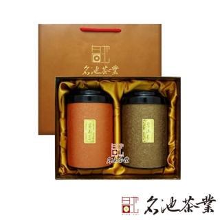 【名池茶業】紅烏龍&梨山手採高山茶葉禮盒.金碧輝煌款(300g)