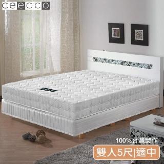 【ceecco】米雪兒高彈力高碳鋼護背彈簧床墊(雙人5尺)