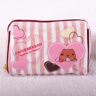 【Kapibarasan 】水豚君愛心印花化妝包