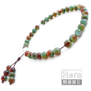 HERA特選三彩玉髓唸珠/33顆(網)
