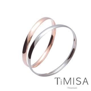 【TiMISA】純真-薄 純鈦手環(雙色可選)