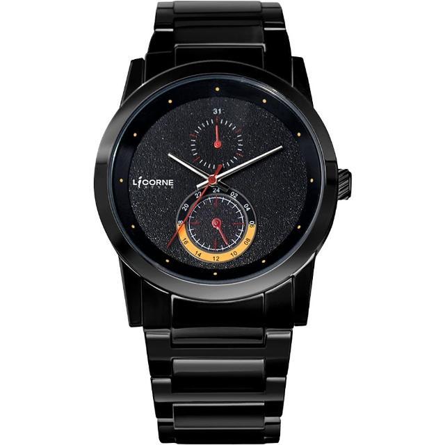 【LICORNE】晨曦時尚系列腕錶-IP黑(LI002MBBA)