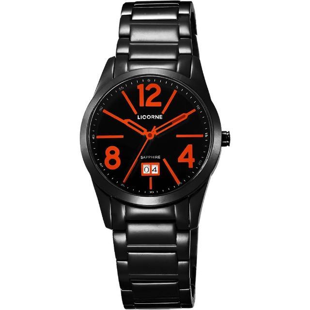 【LICORNE】情人時光大日期腕錶-IP黑/36mm(LB931LBBA-1)