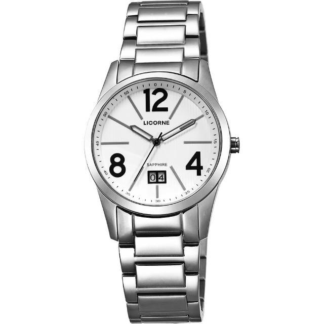 【LICORNE】情人時光大日期腕錶-白/36mm(LB931LWWA-1)