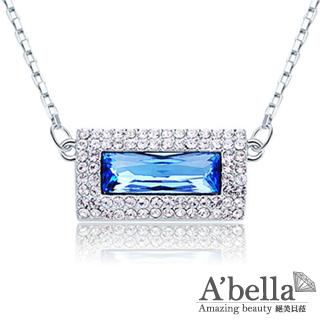 【A'bella浪漫晶飾】方怡-天際藍水晶項鍊