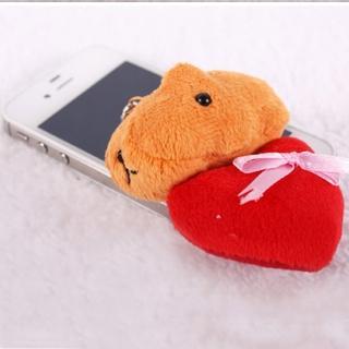 【Kapibarasan 】水豚君愛心系列擦屏吊飾(水豚君)