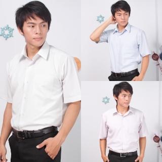 【JIA HUEI】短袖男仕吸濕排汗防皺襯衫 3158條紋系列 三件促銷組(台灣製造)