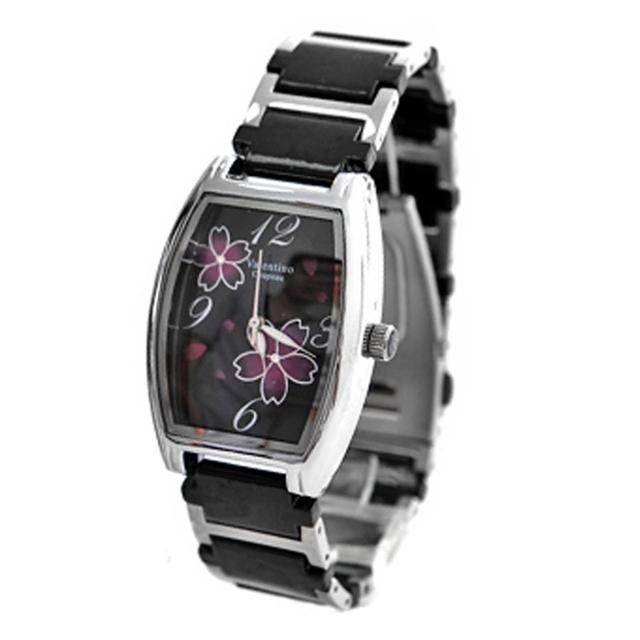 【范倫鐵諾˙古柏】櫻花酒桶造型陶瓷錶手錶