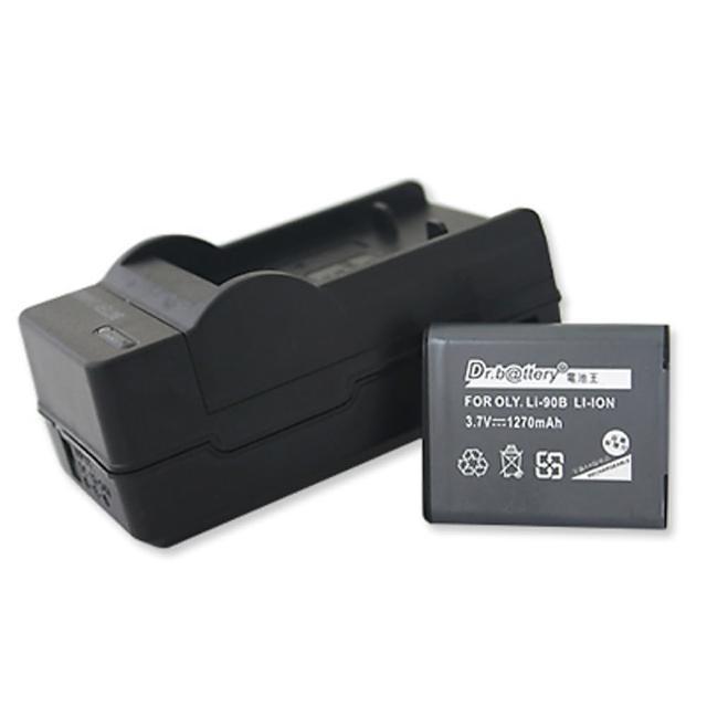 【電池王】For Olympus Li-90B/Li90B 高容量鋰電池+充電器組