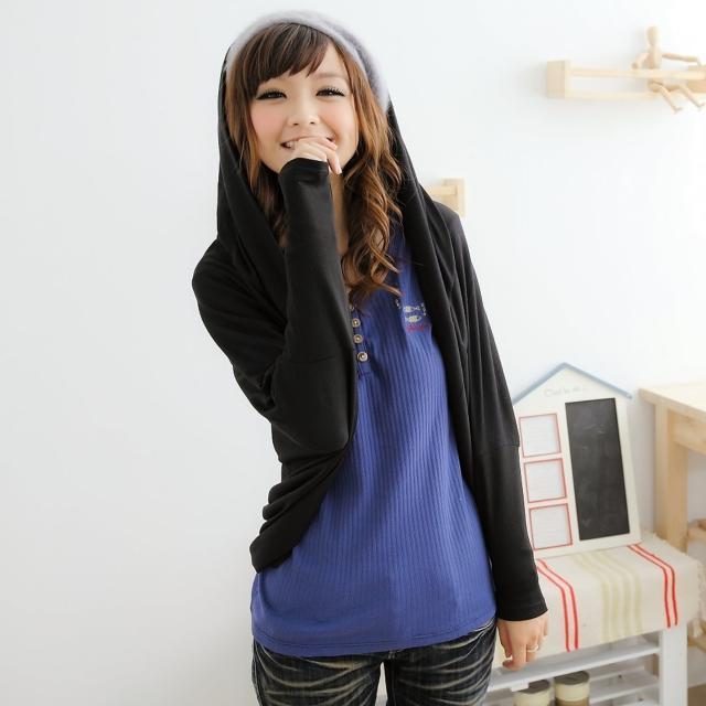 【衣心衣意中大尺碼】美型剪裁 孤型下擺修身外套(黑色-灰色FB4A3047)