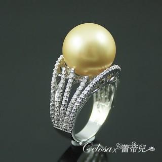【蕾帝兒珠寶】漣漪金色貝珠戒指