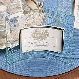 【Madiggan貝斯麗】鬱金香手工彩繪玻璃相框(藍色.紫紅可選)