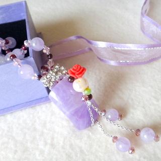 【JIN YANG】紫醉晶迷典藏頂級紫玉髓項鍊(項鍊)