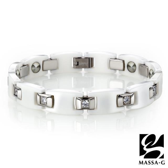 【MASSA-G】Deco系列 White黑白絕配(陶瓷手環)