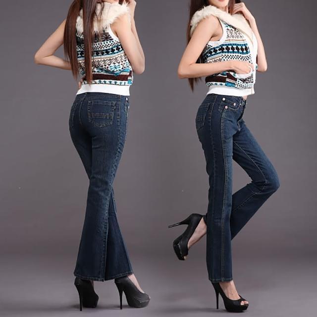 【RH】顯瘦纖細牛仔褲立體喇叭款(全新到貨復古小喇叭全尺碼S-3L)