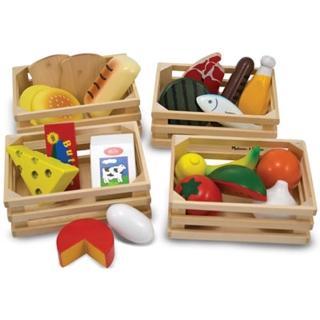 【美國 Melissa & Doug】木製玩食趣玩具組(四類食物)