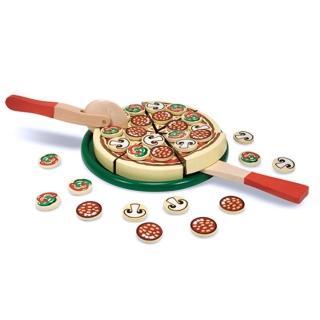 【美國 Melissa & Doug】木製玩食趣玩具組( Pizza比薩派對)