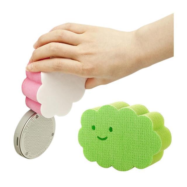 【日本製造AISEN】黏貼式大片雲朵浴室海綿刷(2包裝)
