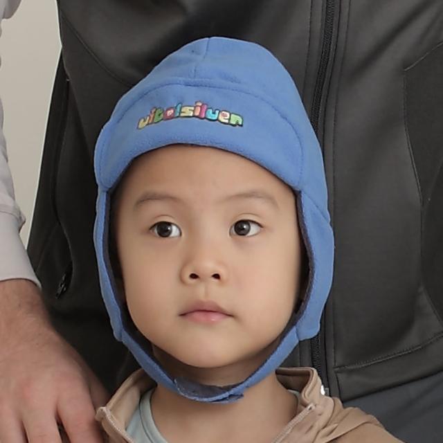 【Vital Silver 銀盾】童 VITAL WARM 翻折遮耳飛行保暖帽(水藍)