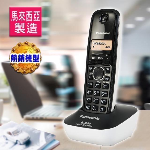 【Panasonic 2.4G】數位高頻無線電話KX-TG3411(高雅白)