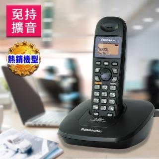 【Panasonic 國際牌】2.4GHz數位式無線電話KX-TG3611(黑色 / 銀色)