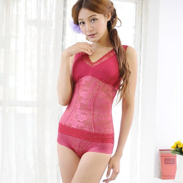 【安吉絲】魅力玫瑰V領280丹無鋼圈塑體衣/M-XL(紅色)