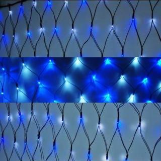 【聖誕裝飾特賣】聖誕燈裝飾燈LED燈 128燈 網燈-藍白色光(高亮度又省電)