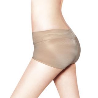 【精雕細塑】日本3D魔翹-完美無痕提臀低腰平口內褲(豆沙藕)