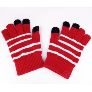 【Lus.G】暖呼呼觸控螢幕保暖手套(紅色)