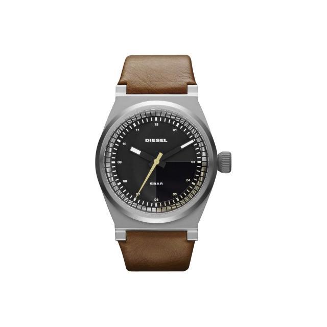 【DIESEL】探索雷達個性腕錶-咖啡/皮帶(DZ1561)