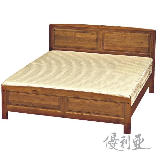【優利亞-古香樟木色】雙人5尺床架(不含床墊)