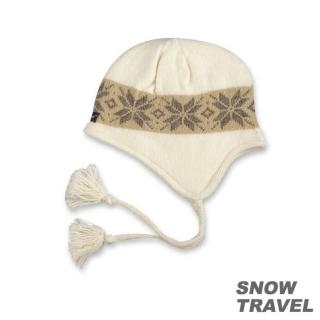【SNOW TRAVEL】 3M防風透氣保暖羊毛遮耳帽(白)