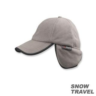 【SNOW TRAVEL】WINDBLOC防風保暖遮耳棒球帽(灰色)