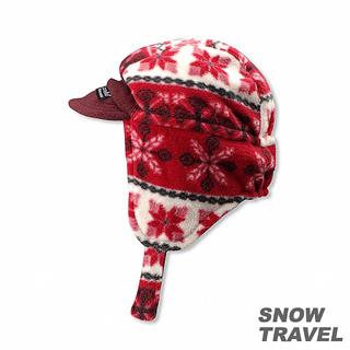 【SNOW TRAVEL】PORELLE防水透氣雙面帽(酒紅色)