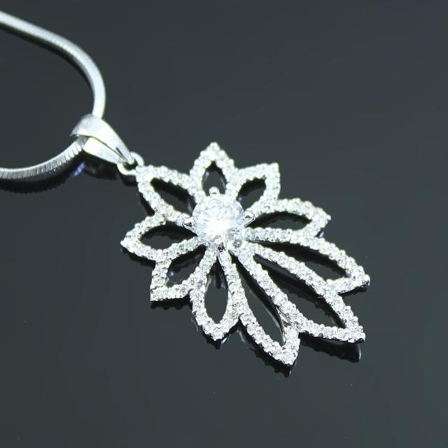 【Celosa名品】花是愛晶鑽墜鍊