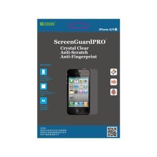 ~GCOMM~iPhone4S清透抗括抗指紋油污保護膜 附超音波抗靜電清潔布 Screen